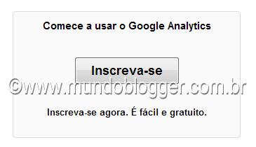 inscreva-se no google analytics