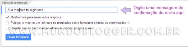 usando formulario do google drive no blogger