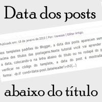 Data das Postagens abaixo do Título do Post