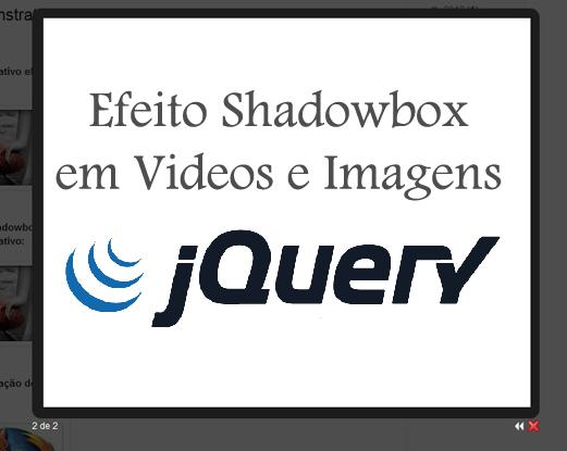 Efeito ShadowBox em Videos e Imagens