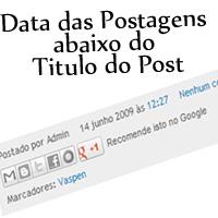 Data da Postagem no Rodapé do Post no Blogger