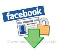 Criando uma cópia dos seus dados do Facebook