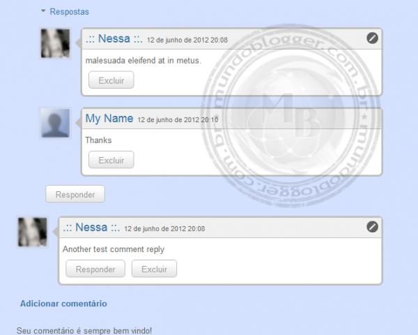 personalizar comentários no novo blogger