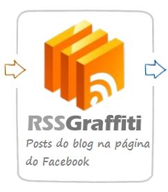 Posts do blog na página do facebook com RSS Graffiti