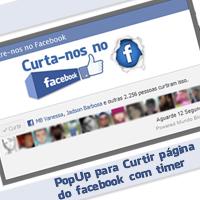 PopUp para curtir página do facebook com timer