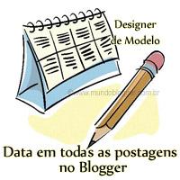 Exibir data em todas as postagens no Designer de Modelo