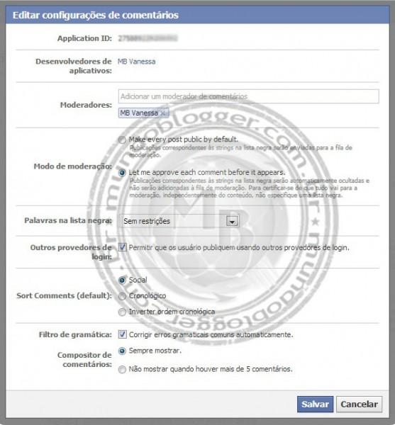 Adicionar sistema de comentários do Facebook no Blogger (3)