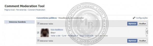 Moderando os comentários do facebook (2)