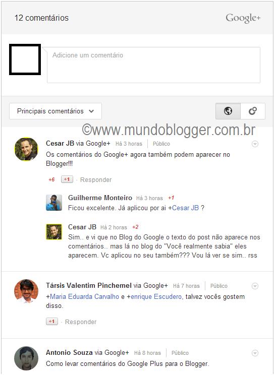 Novidade: Usar os Comentários do Google+ no Blogger