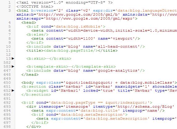 Mudanças e Melhorias no editor HTML do Blogger