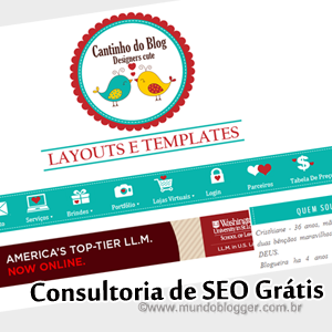 Consultoria de SEO gratuita do blog Cantinho do Blog
