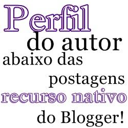 Perfil do autor abaixo do post – Recurso nativo do Blogger